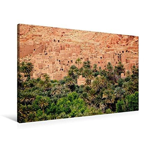 CALVENDO Orte: Premium Textil-Leinwand 90 cm x 60 cm quer, Dattelpalmen bei Tinerhir, Marokko | Wandbild, Bild auf Keilrahmen, Fertigbild auf echter Leinwand, Leinwanddruck