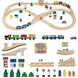 Vortigern #51034 - 51 piece Wooden Train Set