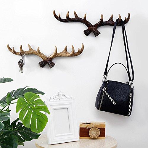 Heresell ganci appendiabiti a parete vintage decorazione da appendere a forma di cervo appendiabiti da parete creativo chiave appendiabiti da parete gancio della stanza da bagno dark
