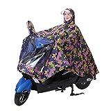 Poncho de Pluie Hommes Femmes Manteau Vêtement Imperméable Anti-pluie à Capuche Etanche Portable Camouflage Veste Cape de Pluie avec Visière Epais pour Moto Vélo Camping Cyclisme Equitation Scooter