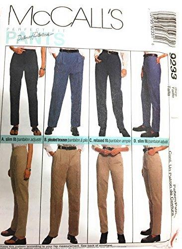 McCall 's 9233Schnittmuster ~ Misses 'Perfect Fit Pants, Hosen, Jeans, Größe 18 Trim Jeans Hose