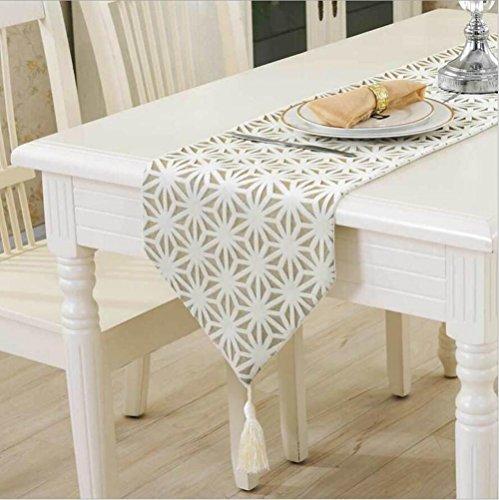 1x 32x 160cm, mit moderner Tischläufer Polyester, hohl, Tischläufer Tischdecke mit Quasten Cutwork Stickerei Tischläufer, Textil, 3, 32x160 cm