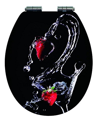 TrendLine WC-Sitz Strawberry Absenkautomatik Toilettensitz WC-Deckel Erdbeeren -