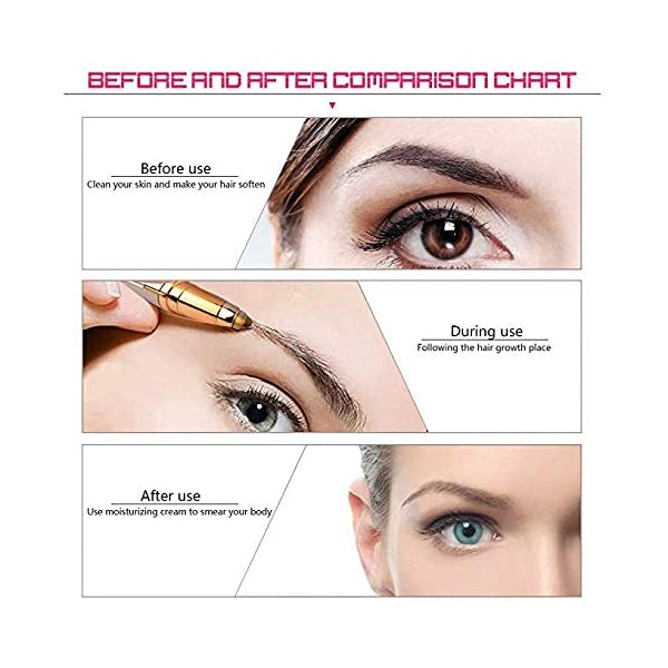 FOHYLOY Painless Eyebrow Hair RemoverSensitive Precision Hair Removal Beauty Instrument With Light1 Spare Razors Blade
