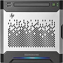HP ProLiant MicroServer 8th Gen 819185-421 - Servidor (Intel Celeron G1610T Dual-Core a 2.3 GHz, 4GB de RAM, Matrox G200); Gris y Negro
