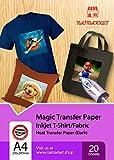 Transferpapier/Bügelpapier/Transferfolie für DUNKLE Textilien/Stoffe von Raimarket | 20 Blatt | A4 Inkjet Bügeleisen auf Papier / T-Shirt-Transfers | Textilefolien | DIY Stoffdruck (20)