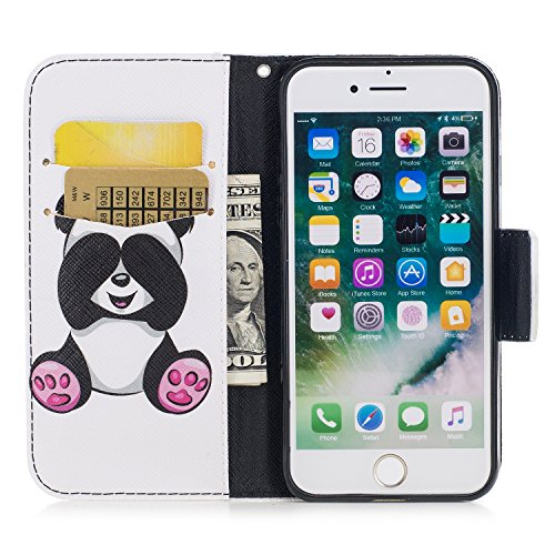 Apple iPhone 7 4.7 hülle, Voguecase Kunstleder Tasche PU Schutzhülle Tasche Leder Brieftasche Hülle Case Cover (Kiss My Ass) + Gratis Universal Eingabestift Gold Schmetterling 01