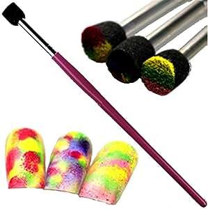 Sponge de/pinceau éponge ~ Rose ~ pour ausgefallene Nail Art Flitter, pigments, peinture acrylique, gel etc