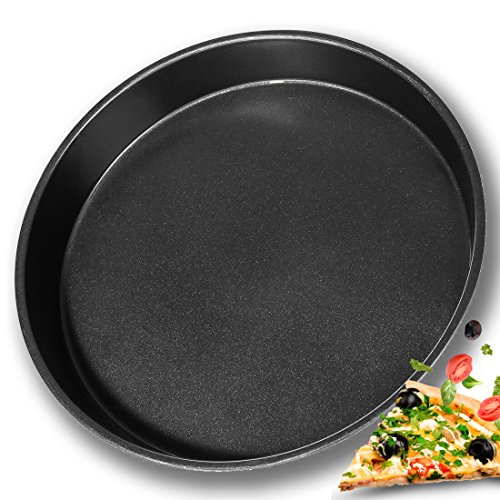 BOJIN Pizza Pan 12 in 30 cm Round Non Stick Oven Baking Tray Deep Dish
