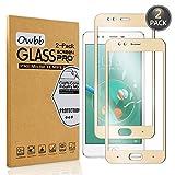 Owbb [2 Stück Gold Gehärtetes Glas Display schutzfolie Für ZTE Nubia M2 Lite Full Coverage Schutz 99% High Transparent Explosionsgeschützter Film