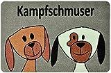 deco-mat Fußmatte Hund – Fussmatte Innen, Rutschfest, waschbar – Schmutzfangmatte - Fussabtreter - Türmatte 40x60 cm