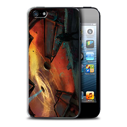 Offiziell Chris Cold Hülle / Case für Apple iPhone 5/5S / Pack 6pcs Muster / Galaktische Welt Kollektion Schwarzes Loch