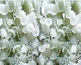 Mbwlkj Blume High-Definition Jade Trompete Blume Bild Wandbild Tapete Benutzerdefinierte Jede Größe Wohnzimmer Wandbilder 3D Tapete-450cmx300cm