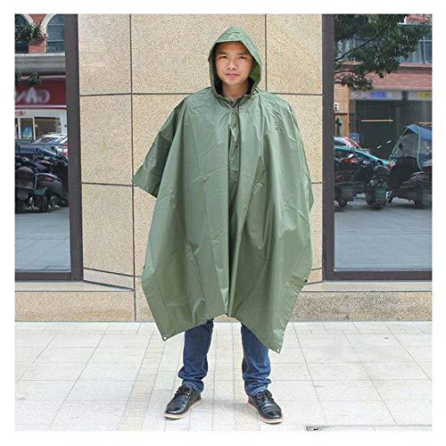 Camouflage Raincoat,Outdoor Camping Caccia alla Giungla Lungo Impermeabile 3 in 1 Tactical Camouflage Impermeabile Poncho Uomo Poncho Copertura Impermeabile alla Pioggia Tendalino,200 * 140cm,E