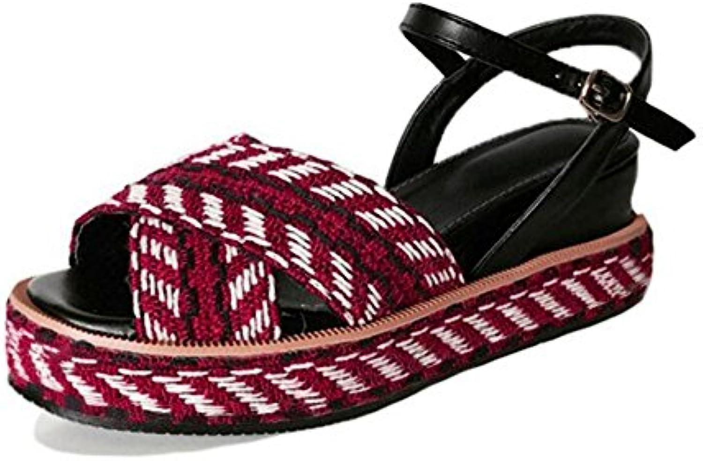 Zapatos de mujer Sandalias de verano Cuñas Plataforma Tacones altos Comodidad al aire libre Sandalias deportivas...