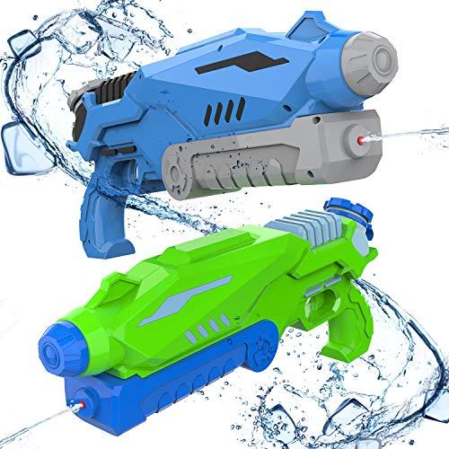 Joyjoz Wasserpistole 2 Stück, Super Soakers XXL 12M, Water Blaster, Wasserpistolen Strandspielzeug für Kinder und Erwachsene