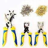 S&R Set Pinza Fustellatrice + Pinza a Occhielli (4mm x 100 pz) + Pinza bottoni borchie a pressione...