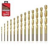 flintronic Bohrer für Beton, Hammerbohrer, HSS Steinbohrer, 13 Stück (1.5mm~6.5mm) Bohrer Werkzeuge zum Bohren von Löchern in Beton, Keramikfliesen, Stein, Holz, Metall