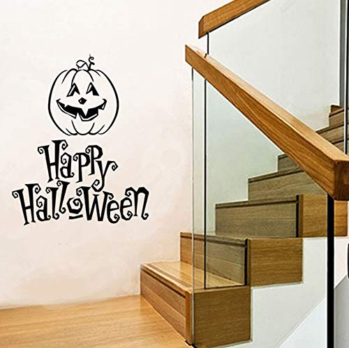 daufkleber Moderne Halloween Buchstaben Abnehmbare Selbstklebende Kunst Vinyl Fenster Display Home Room Decor Schmücken 71 cm * 55 cm ()