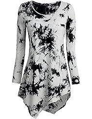 DJT T-shirt Tops Blouse Sweat-shirt Col rond Pull-over hauts Femme