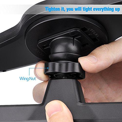 iPad Car Holder – MEMTEQ Tablet Headrest Mount Car Backseat Holder With 360 Degree Rotation Tablet Car Holder for iPad Mini, iPad Air, 7 – 10.1 Inch Tablets, Travel Kit (Black and Grey)