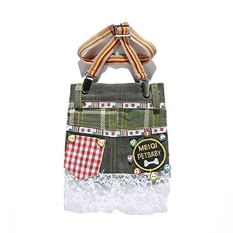 Uni Meilleur pour animal domestique Chien Jean Pantalon de bretelle Dentelle Jupe Salopette robes Vêtements Gilet Capuche Manteau Chiot Costumes Outfit