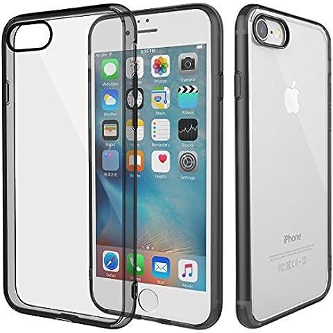 Apple iPhone 7 Plus Custodia, Rock Clear [Anti-Graffi] [Goccia di protezione] TPU del gel [ultra sottile] Case Cover flessibile molle premio paraurti in gomma protettiva per Apple iPhone 7 Plus / 7 Pro (2016)
