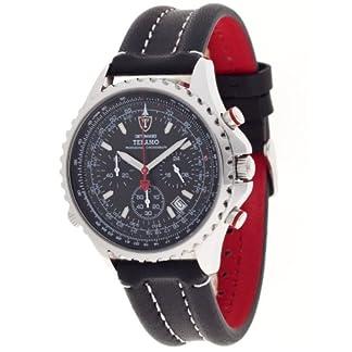 Detomaso DT1029-A – Reloj analógico de Cuarzo para Hombre con Correa de Piel, Color Negro