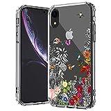 MOSNOVO Coque iPhone XR, Jardin Floral Flower Blossom Fleur Clair Design Motif...