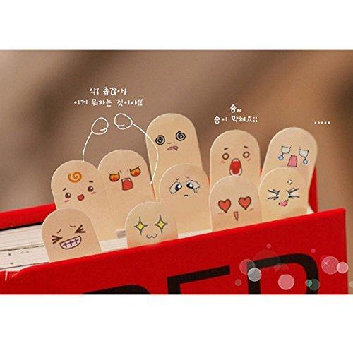 youpin-4set-dita-200pagine-segnalibro-cute-tab-post-memo-adesivo-bandiere-marcatore-note-pads-emotic