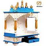 Kamdhenu Art And Craft Wooden Temple, Multicolour