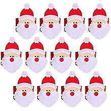 THEE 4pcs Decoración de Tabla Servilleta Anillos Servilletero de Toalla para Navidad ...