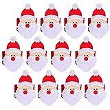 THEE 4pcs Decorazione da Tavolo per Natale Anello di Asciugamano 12pcs