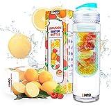 Trinkflasche mit früchtebehälter - Lebenslange Garantie - 700ml / 25oz mit kostenlosem Rezepte eBook - EMPO® [BPA Freies Tritan] - Sie ist entworfen, um köstliches Wasser herzustellen, ist wirklich einfach zu benutzen und beansprucht nur ein paar...