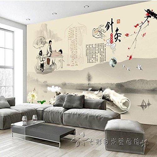 Wallpaper Experten große nahtlose gesamte Wandmalereien der traditionelle klassische chinesische Medizin Akupunktur Wellness Center Massage therapie Zimmer Schweiß Dämpfen Tapeten an den Wänden.