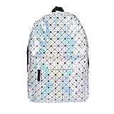 Fringoo–Giacca da uomo olografico zaino scuola viaggio palestra ologramma Cabin bag zaino bagaglio a mano moda hipster Multicolore Holographic Triangles H41 - W30 - D15cm.