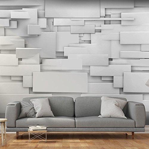 murando - Fototapete Abstrakt 400x280 cm - Vlies Tapete - Moderne Wanddeko - Design Tapete - Wandtapete - Wand Dekoration - 3D grau f-A-0254-a-a