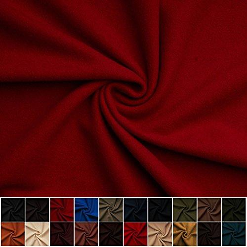 Gaby - Kaschmir Wolle Mantel Wollstoff Meterware 20 Farben Stoff (rubinrot) (Wolle Winter Mantel)