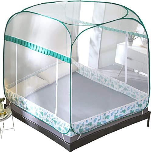 MJJHNWZZ Moskito Faltbare Dreitürige Insektennetze Für Kinder Yurta Etagenbett Bettwäsche Erwachsene Doppelbett Moskitonetz -