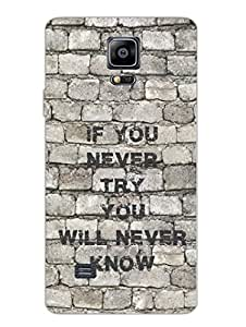 Samsung Note 4 Cases & Covers - If You Never Try - Typography - Designer Printed Hard Shell Case