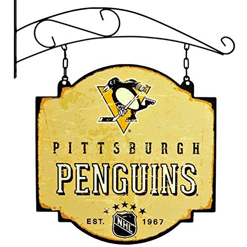 Winning Streak NHL Pittsburgh Pinguine Vintage Tavern Schild - Pittsburgh Penguins-flag