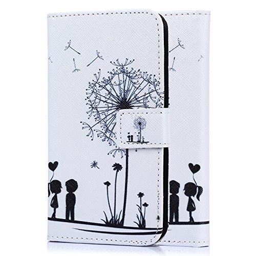 tinxi® Kunstleder Tasche für LG Magna / G4C Tasche Schutz Hülle Schale Etui Case Cover Standfunktion mit Karten Slot Zwei liebliche Kinder
