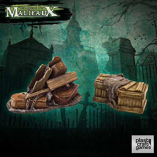 Malifaux: Undertaker Props by Plast Pre-Cut Scenery - Fantasy Terrain 28mm