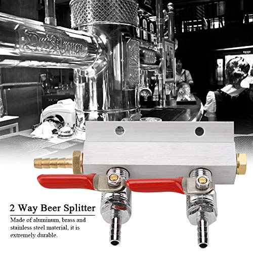 51zsw2T7s6L. SS500  - Gas Distribution - 2 Way Beer Gas Distributor Co2 Air Gas Manifold Distribution Splitter for Homebrew Beer Making…