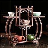 HUA RACKS Pflanze Retro chinesischen Stil Blumenständer Massivholz Regal Tee Rack Huhn Flügel Holz Schatz Pavillon Display Regal Zubehör
