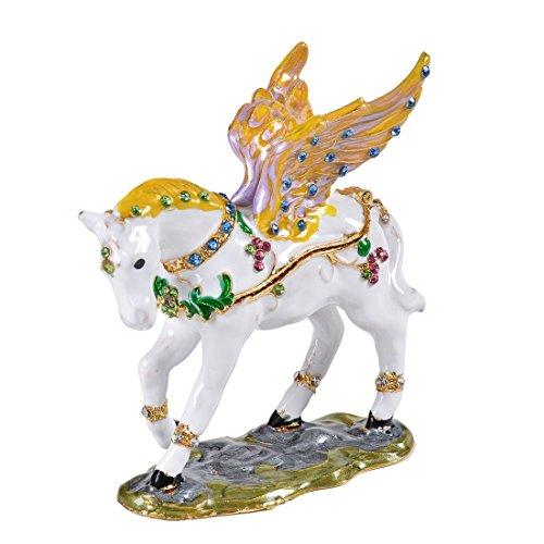 micg fliegendes Pferd Schmuckkästchen ring Halter Andenken Box Tier Figur Kollektion für Mädchen Bejeweled Tier