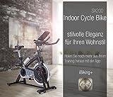 Sportstech Profi Indoor Cycle SX200 mit Smartphone App Steuerung + Google Street View, 22KG Schwungrad, Armauflage, Pulsgurt kompatibel – Speedbike mit flüsterleisem Riemenantrieb – Fahrrad Ergometer bis 125 KG - 7
