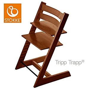 stokke chaise haute b b tripp trapp noyer b b s pu riculture. Black Bedroom Furniture Sets. Home Design Ideas