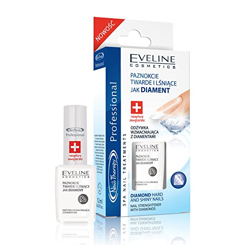 Eveline Cosmetics - Nail Strengthener With Diamonds Diamond Hard and Shiny Nails by My Beauty Supplements
