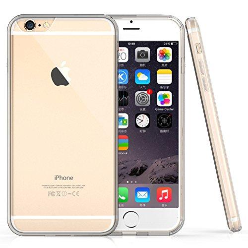 """iPhone 6S Plus Hülle - iHarbort® iPhone 6/ 6S Plus (5,5 Zoll) Schutz Hülle Case Stoßstange-Abdeckung mit Stoßdämpfung Stoßstange und Antikratzer transparente Rückseite (5.5"""", Transparent II) Transparent II"""